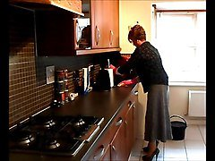 Housewife, Wife, Hot housewife works in the kitchen, Xhamster.com