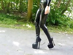 Boots, Latex, Heels, Gloves latex, Xhamster.com