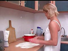 Kitchen, Russian, Old And Young, Old and young lesbian party, Xhamster.com