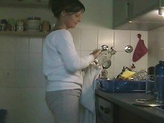 Kitchen, Couple, Dad and daughter in kitchen, Xhamster.com