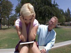 Blonde, Old Man, Lis ann awith old man, Xhamster.com