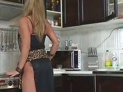 Kitchen, Milf, Seduced wife in kitchen, Xhamster.com