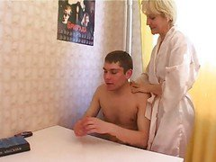 Kitchen, Mom and daughter and son in kitchen, Xhamster.com