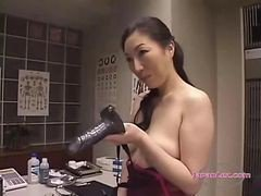 Asian, Lingerie, Strapon, Cumshot, Mom strapon bedroom, Gotporn.com