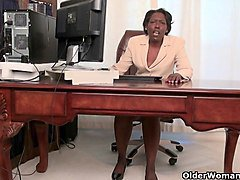 Granny, Office, Strip, Granny sleeping, Xhamster.com