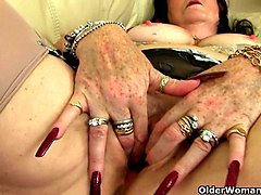 Granny, Granny hairy creampie doggystyle, Xhamster.com