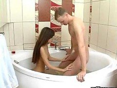 Bath, Bathroom, Cute, Japanese lesbians gets frisky in bathroom, Xhamster.com