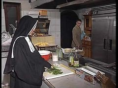 Nun, Kitchen, German, Ass, Nun rough, Xhamster.com