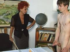 Teacher, Student, Voluptuous fair haired mature teacher exploiting, Xhamster.com