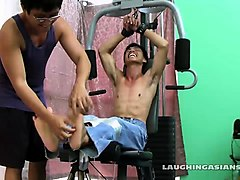 Asian, Gym, Teacher swallows, Nuvid.com