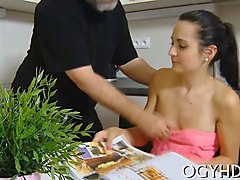 Old Man, Fat, Teens love to lick pussy, Gotporn.com