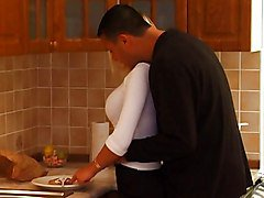 Bus, Blonde, Kitchen, Teen, Mom in the kitchen, Redtube.com