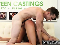 Blonde, Casting, Teen, All men in this family are crazy about mom, Nuvid.com
